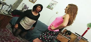 Ball Busting - Blackmail, Cross Dressing Stepdad