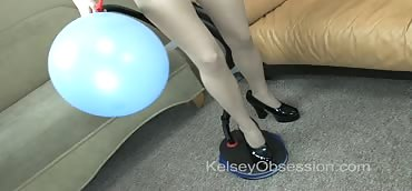 Balloon - Bellows Air Pump, Pantyhose & Heels