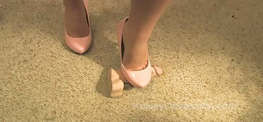CBT - Dick and Ball Punishment With Pink High Heels